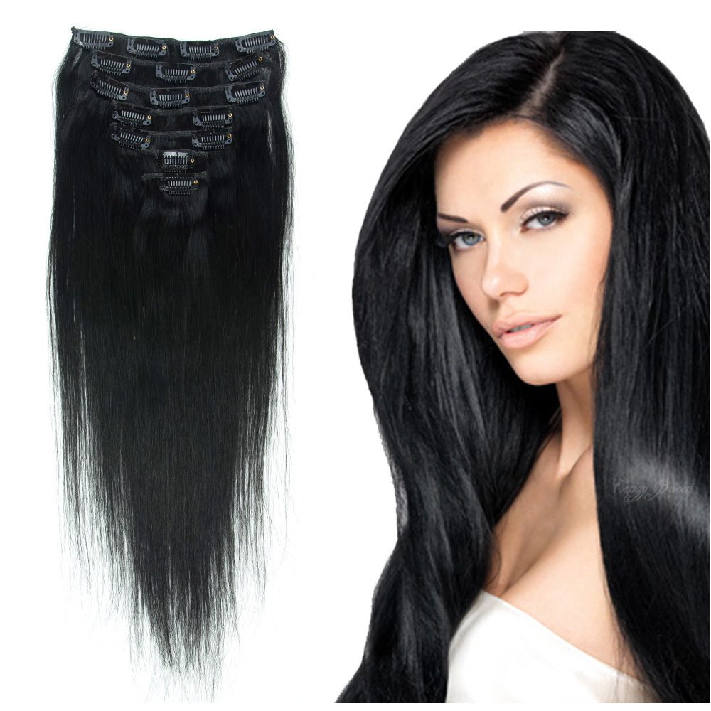 Black clip on human hair extensions trendy hairstyles in the usa black clip on human hair extensions pmusecretfo Gallery