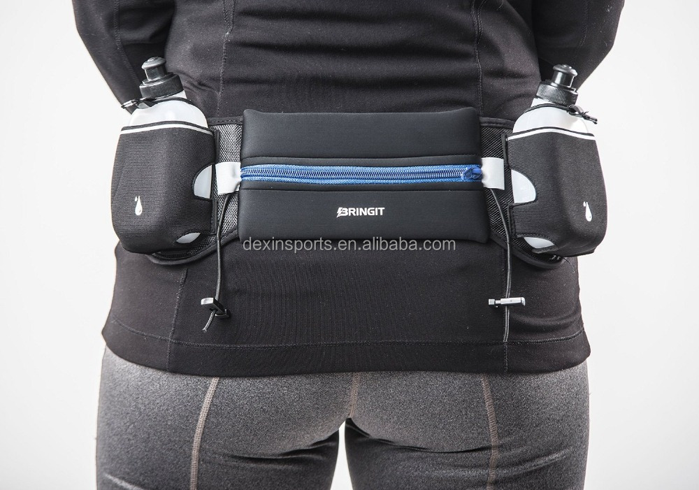 Running Belt with Water Bottles, Fuel Belt for Running, Race, Marathon, Hiking,