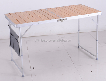 Bon Yongkang Folding Camping Table Folding Bamboo Table Aluminum With Carry  CasePCT 311B