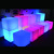 Illuminated Led Cube Chair Led Light up Outdoor Furniture glowing cube stool