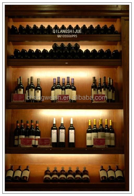 Estanteria de madera vino tinto display retail shelving - Estanterias de vino ...
