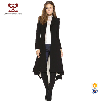 Ladies Long Coats Plus Size Lady Coat Black Maxi Women Trench Coat ...