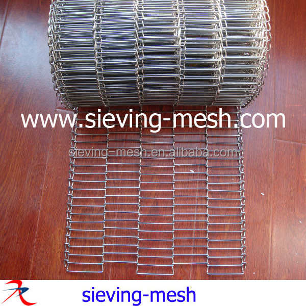Biscuit oiling and cooling mesh conveyor belt factory