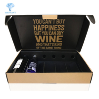 Corrugated cardboard perforated packaging 12 bottle water wine shipping box