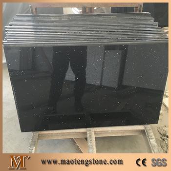 House Kitchen Design Starlight Black Quartz Countertops