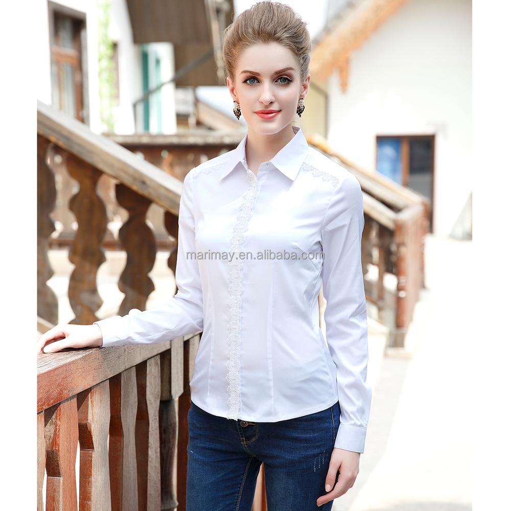 Shirt design ladies - Fashion Ladies Shirt Design Women Formal Blouse Designs For Lady Clothing