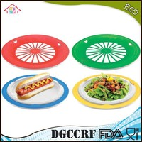 NBRSC Reusable Plastic Paper Plate Holders Colors Available Set of 12 Plates
