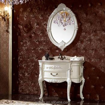 Vintage Stijl Ovale Badkamer Kast Eenhedenfranse Stijl Gebogen Crème Badkamermeubel Met Aanrecht Wts605 Buy Franse Stijl Badkamermeubelbadkamer
