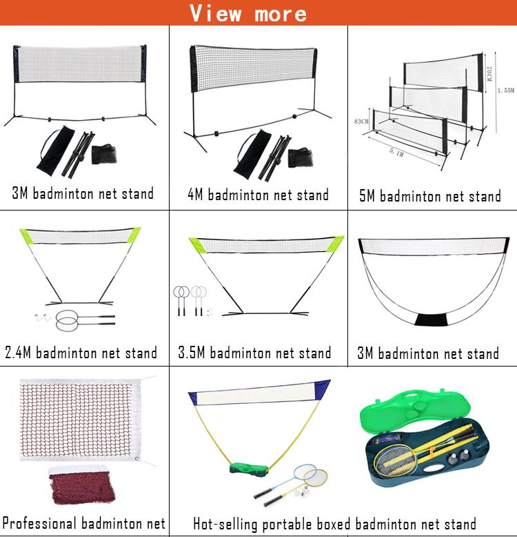 New Design Durable Easy Setup Cheap Portable Badminton Net Set