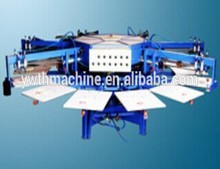 High Precision Automatic 6 Color 14 Stations T Shirt Screen Printing Machine
