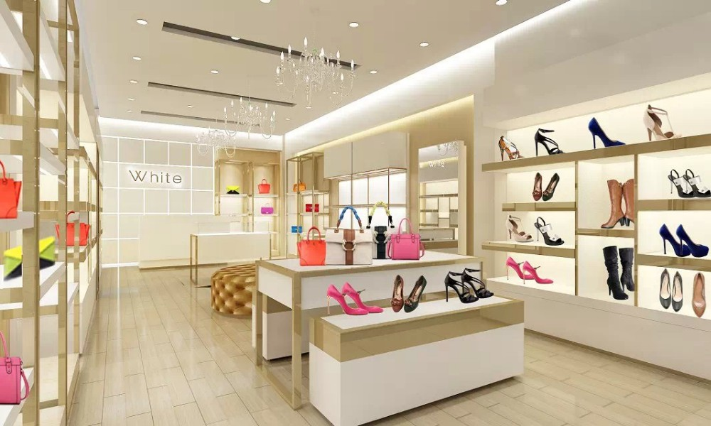 Shoes Display Rack With Shelves For Store Decoration