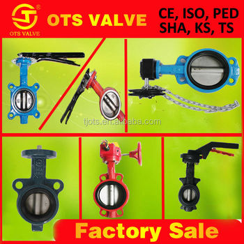 Wholesale Bv-SY-289 8inch hand wheel or hand lever wafer butterfly ...