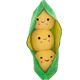 Customized vegetable bean plush toy cute soft stuffed pea plush toy