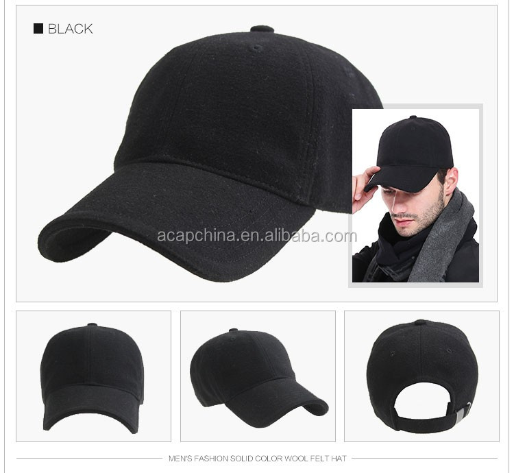 Men Style Classic Black Baseball Hat Golf Cap No Logo - Buy Baseball ... c0a32222713