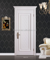 Simple design european white interior solid wooden doors