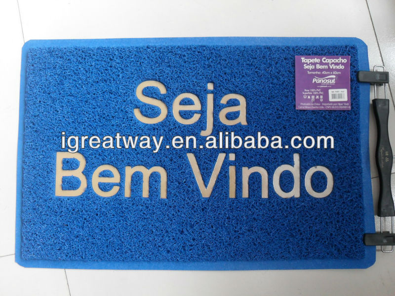bath mat anti-slip mat pvc branded door mats