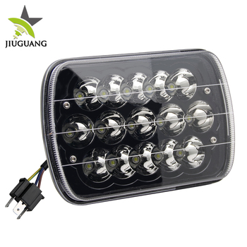 High Quality Square Waterproof Headlight high low beam 12V 24V Led 5x7 Led Car Headlight
