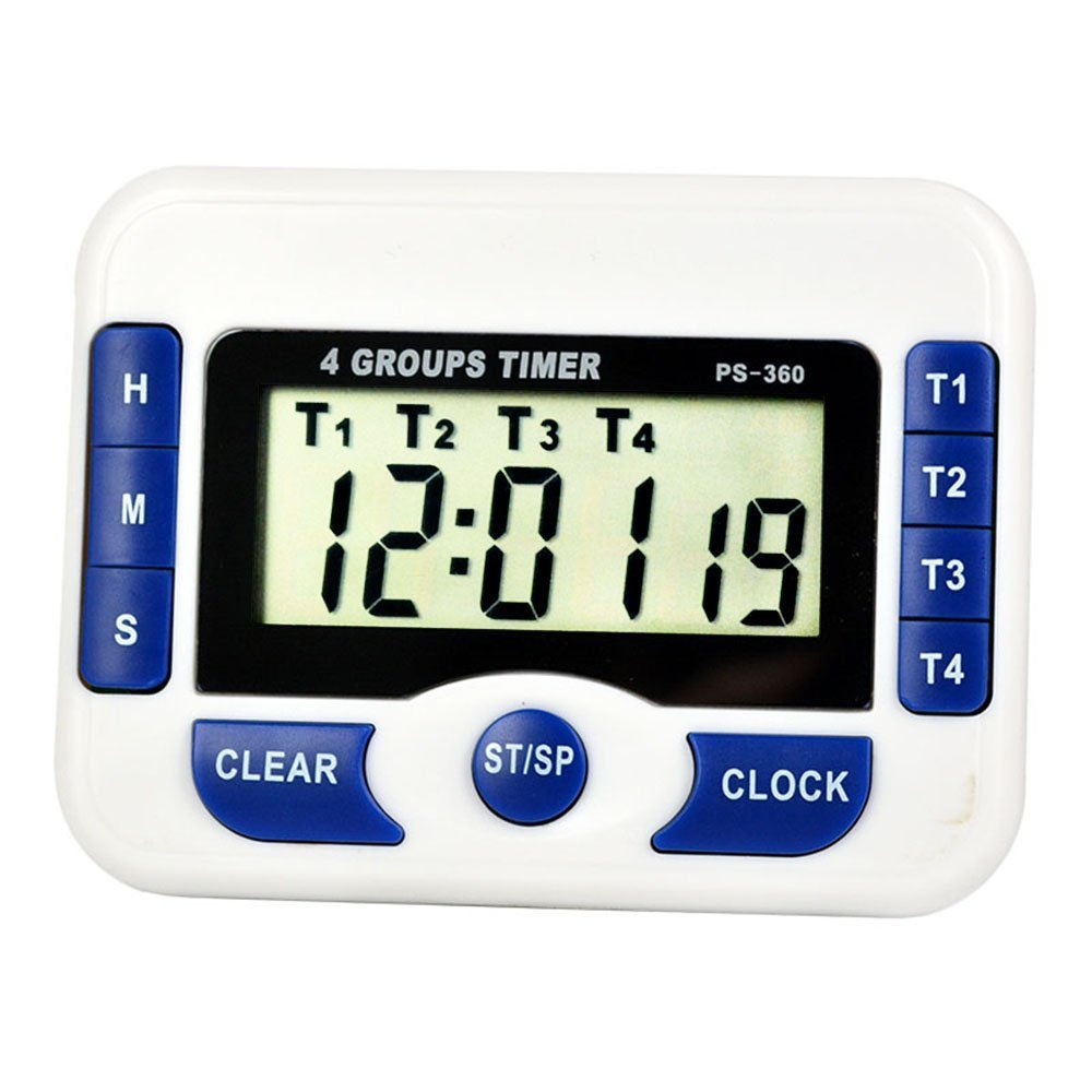 In Hot Sale Digital Countdown Timer 4 Channel Count Up Down Kitchen Cooking Timer Clock Fashionable Style;