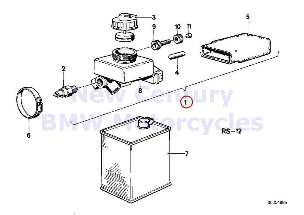 BMW Genuine Motorcycle Brake Master Cylinder Front Brake Master Cylinder D=14MM R100/7T R100/T R75/6 R90/6 R60/7 R75/7 R80