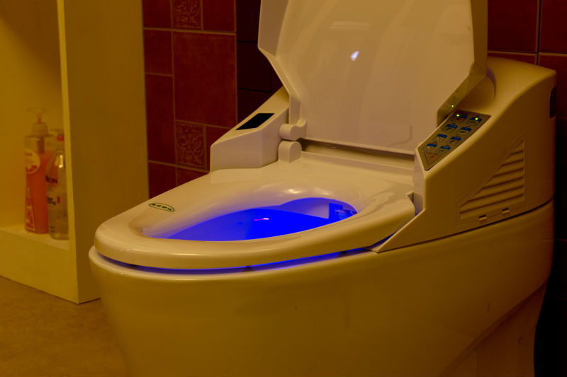 Automatic Toilet With Built In Bidet Contemporary Square