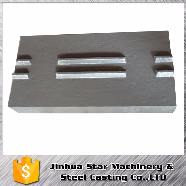 China Manufacture Building efficient high manganese jaw liner plate