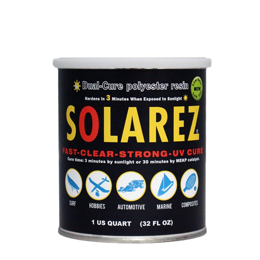 Solarez UV Cure Low-VOC Clear Polyester Resin (Quart)