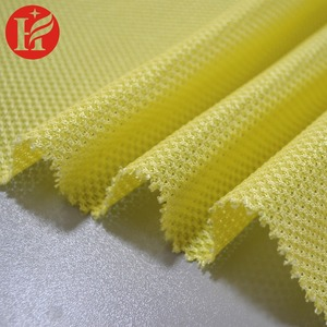 Warp knitted nylon and polyester spacer mesh fabric and breathable mesh for sports shoes