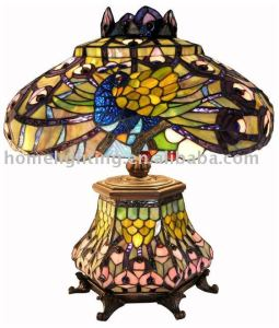 TFT-18113 Tiffany Style Peacock Lantern Table Lamp
