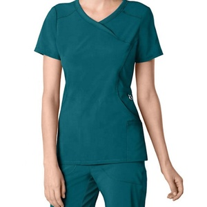 Wholesale New Style Stretchy Hospital Nurse Scrubs Sets Medical Uniform for Women