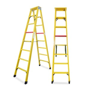High insulation frp ladder 3 m glass fiber folding insulation ladder