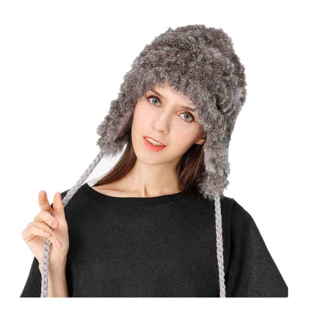 4c972e43969 Get Quotations · Women s Real Rabbit Fur Hat with Fur Winter Hats Cap