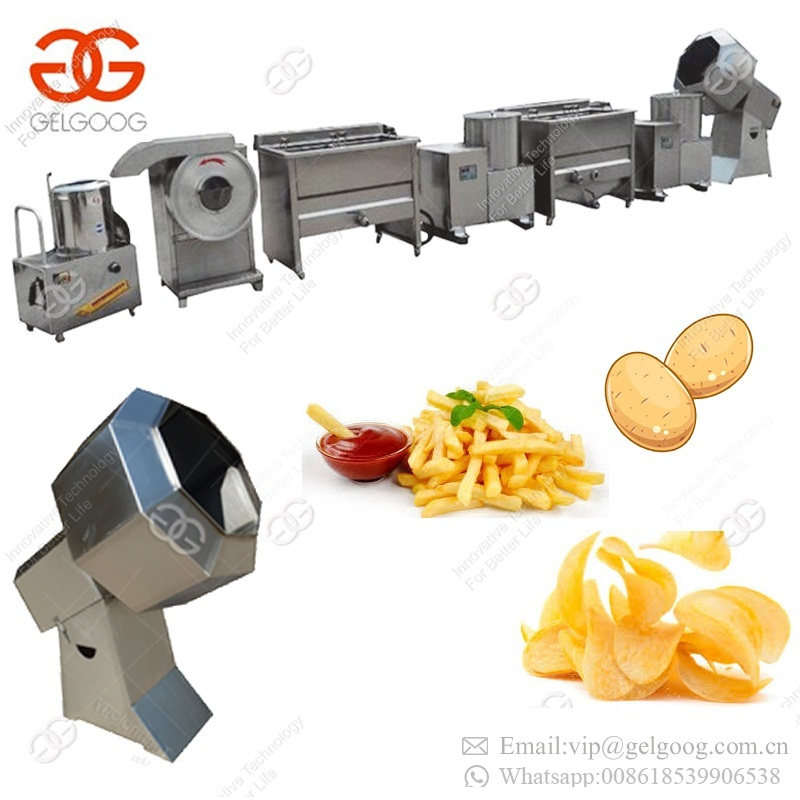 Factory Supply Small Scale Semi Automatic Fresh Frozen Sweet Potato Chips Production Line French Fries Making Machine For Sale