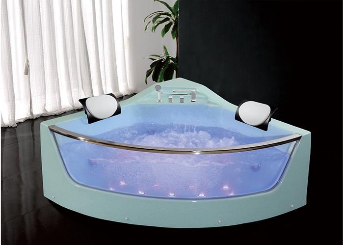 Vasca Da Bagno Vetro : Hs b champagne vetro idromassaggio persona mm angolo