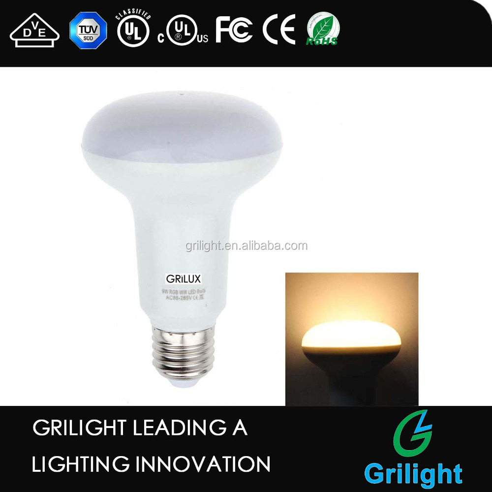 ip20 bulb 9w Grilux smart wifi RGBW led bulb e27 socket