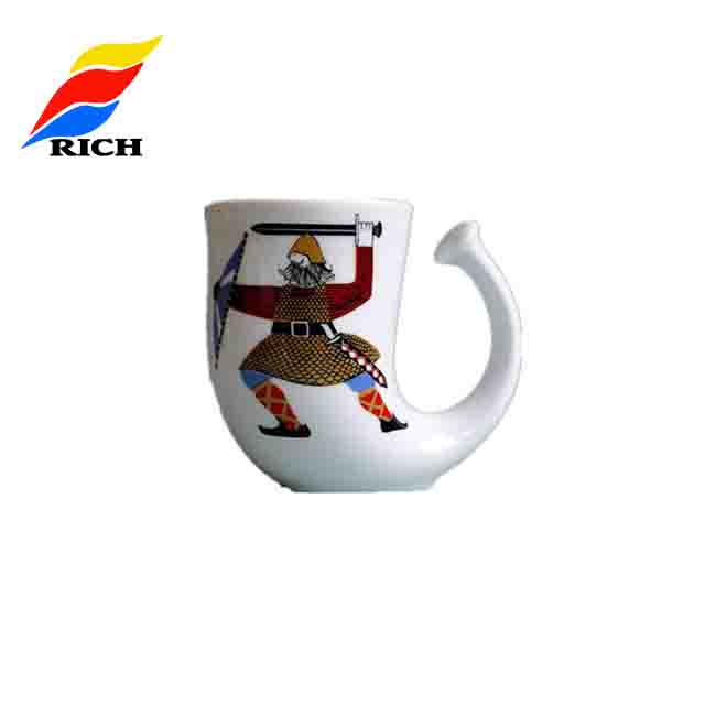Hand Painting High Quality Creative Antique Drinking Beer Horn Mug Tankard