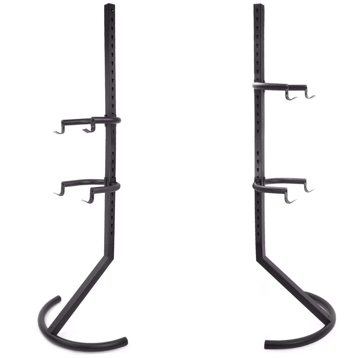 TimmyHouse Bike Rack Stand Gravity 2 Bicycle Rack Storage Or Display Holds Two Bicycles