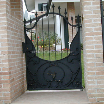 Decorative Wrought Iron Single Door Metal Garden And Home Gate Steel on round swimming pool designs, round tree house designs, round stained glass designs, round jewelry designs, round patio designs, round kitchen designs, round gate designs, round chimney designs, round picket fence designs, round ironwork designs, round art designs, round pottery designs,