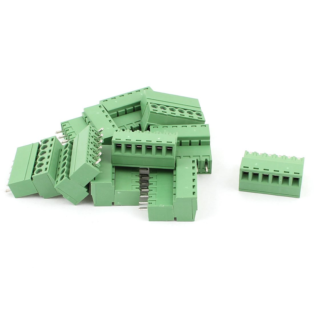 uxcell AC 300V 8A 6 Pins PCB Screw Terminal Block 3.81mm Pitch 10 Pcs Green