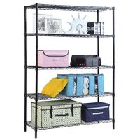 XM_305 5 Tier Heavy Duty Standing Home Furniture Adjustable metal Wire Storage Shelving Shelf