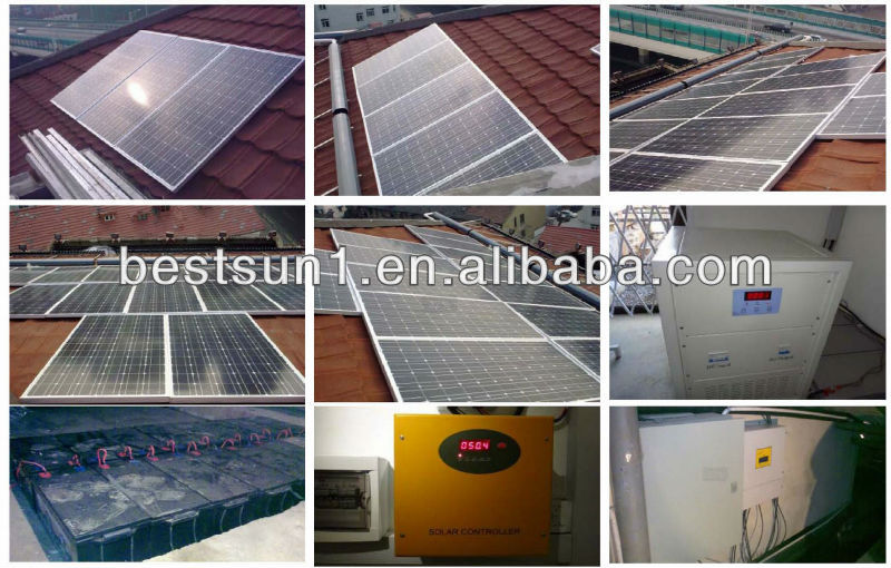 5000w High efficiency High quality for home on/off grid (with MPPT/ IGBT of Mitsubishi Inverter) solar energy storage battery pa