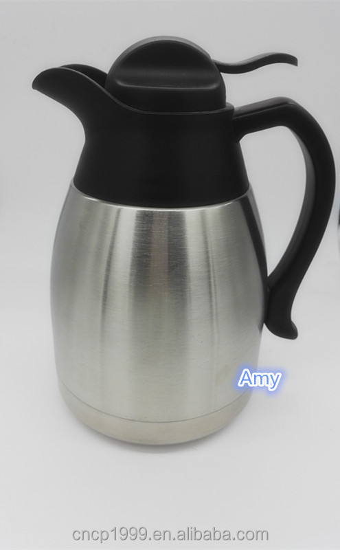 New Cordless Stainless-Steel Electric Large Kettle , 1.2L / 41oz , double walled travel pot with handle . air carafes