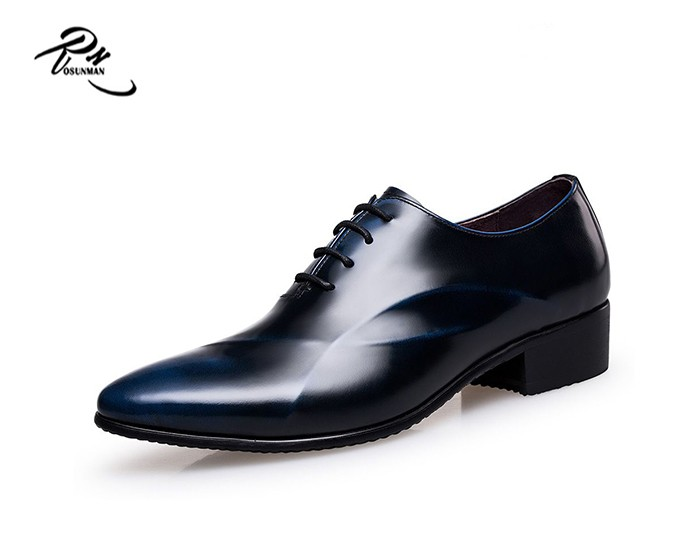 Italian Brands Man Burnish Leather Shoes,Men Pointed Toe