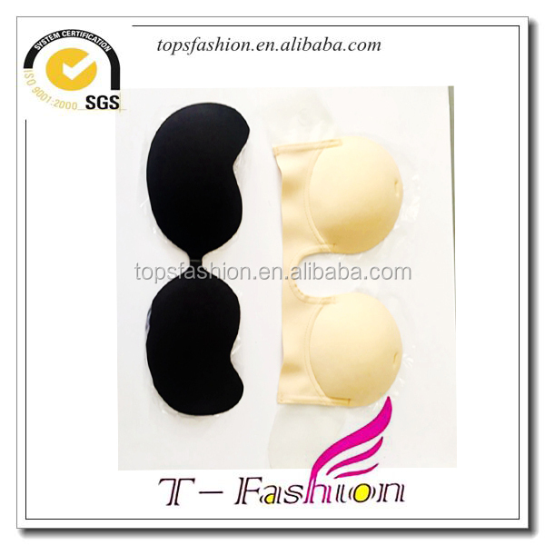 Hot selling super attracting eyes fancy breast decoration use fabric beautiful breasts bra adhesive bra