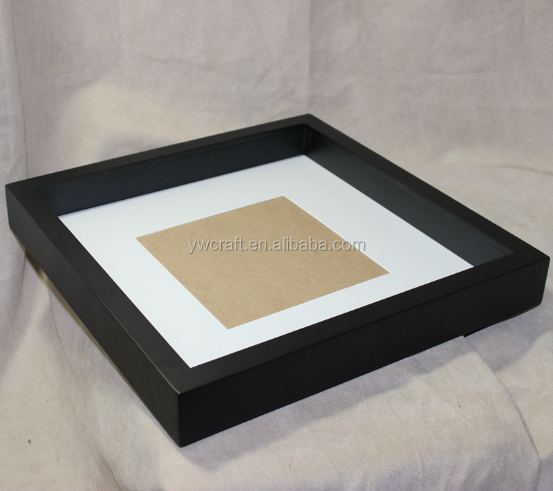 8x8 wholesale 3d wooden shadow box frame Wholesale black white antique deep photo frame picture frame