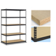 Heavy duty raw material steel metal 5 tier boltless warehouse mold storage rack