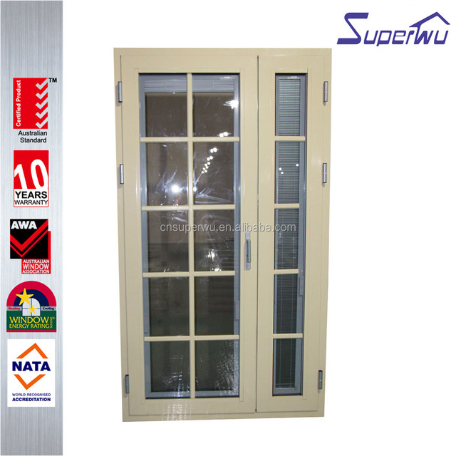 Canada Standard CSA Double Glass Aluminum Exterior Hinge Door/Aluminum  Security Entrance Door Part 68