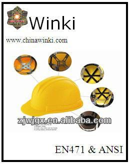 En397 Certificate Hdpe Material Construction Work Safety Helmet ...
