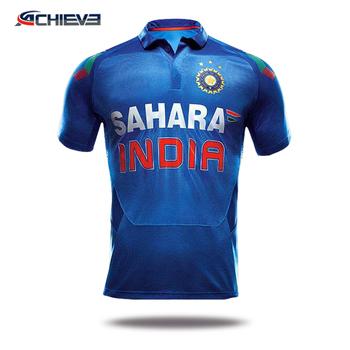 2b8d6eedd7b02 Personalizado India De Cricket Jersey Para Venta