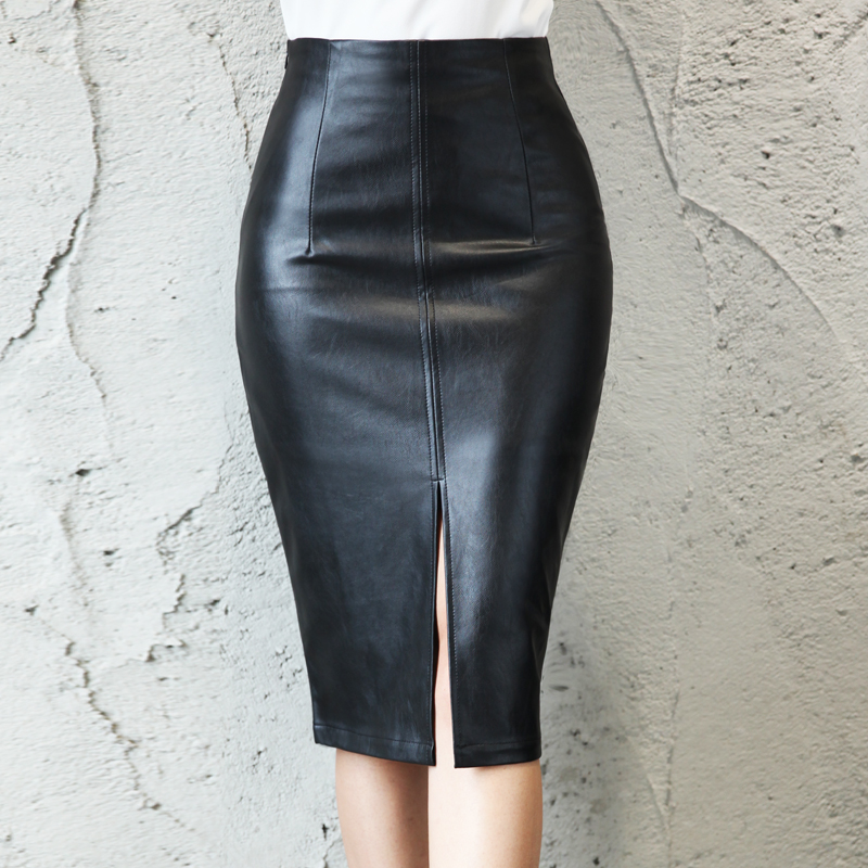 76bd184964d5 2016 Leather Look Mix Pencil Skirt,Women Leather Skirts - Buy Mature Woman  Leather Skirt,Sexy Leather Skirts,Fitted Pencil Skirt Product on Alibaba.com