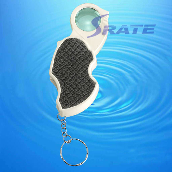 NO.7101 LED Movable Lens Keychain Magnifier